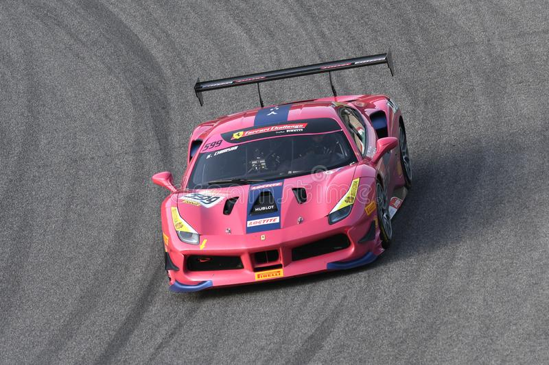 Mugello Circuit - Italy, 25 October 2019: Ferrari 488 Challenge in action during Race of Ferrari Challenge World Finals 2019 stock photo