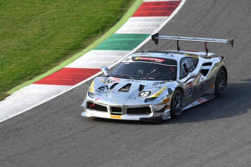 Mugello Circuit - Italy, 25 October 2019: Ferrari 488 Challenge in action during Race of Ferrari Challenge World Finals 2019 stock photos