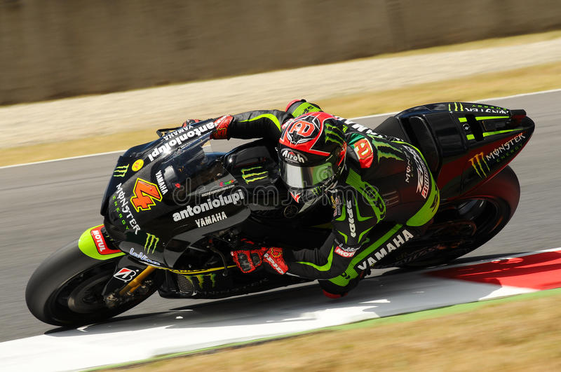 MUGELLO CIRCUIT - JULY 13: Andrea Dovizioso of Monster Yamaha team racing at Qualify Session of MotoGP Grand Prix of Italy stock photography