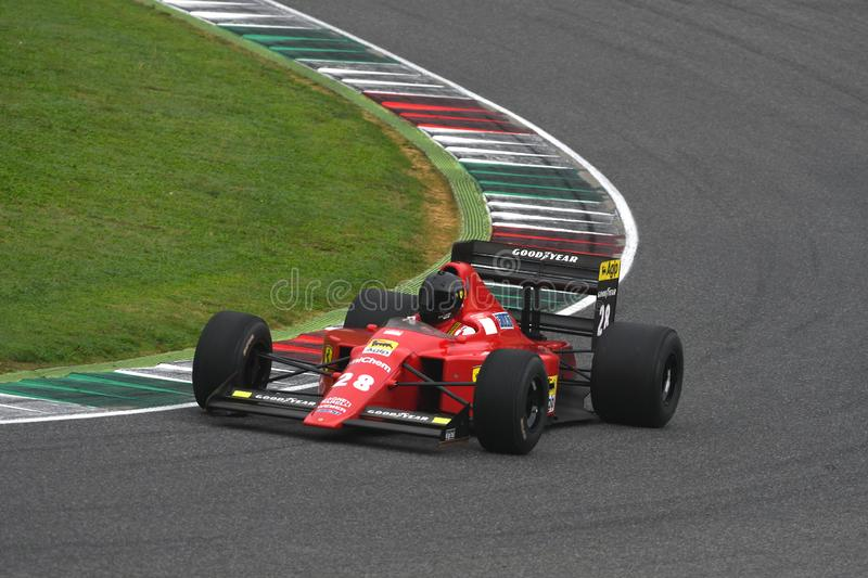 Mugello Circuit, 25 October 2019: Historic 1989 F1 Ferrari F189 ex Gerhard Berger - Nigel Mansell in action during Finali Mondiali royalty free stock photo