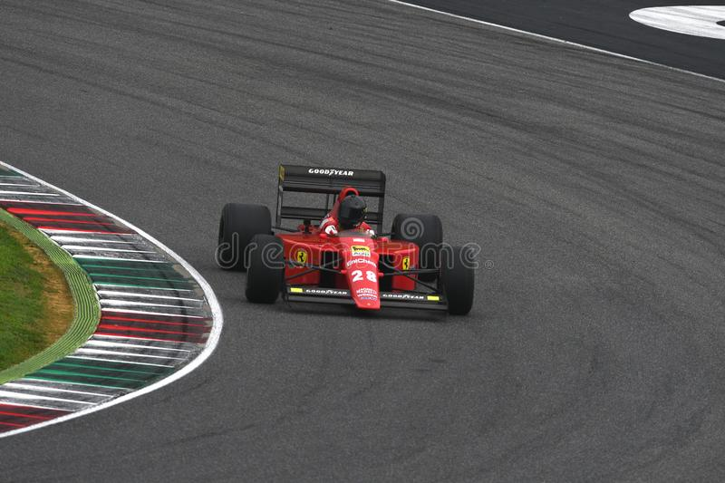 Mugello Circuit, 25 October 2019: Historic 1989 F1 Ferrari F189 ex Gerhard Berger - Nigel Mansell in action during Finali Mondiali stock images