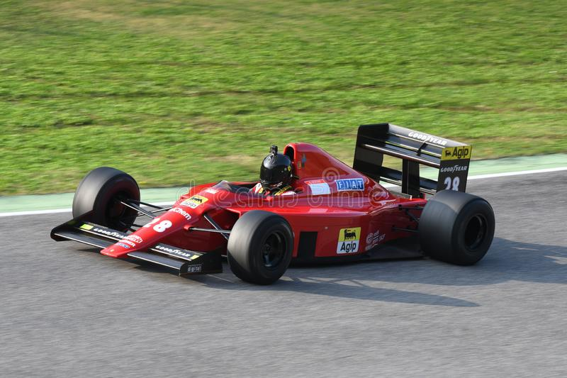 Mugello Circuit, 24 October 2019: Historic 1989 F1 Ferrari F189 ex Gerhard Berger - Nigel Mansell in action during Finali Mondiali stock image