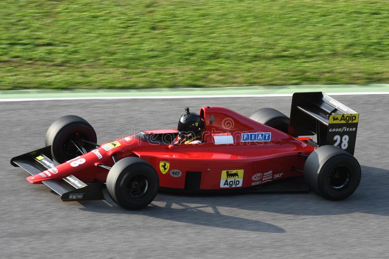 Mugello Circuit, 24 October 2019: Historic 1989 F1 Ferrari F189 ex Gerhard Berger - Nigel Mansell in action during Finali Mondiali stock images
