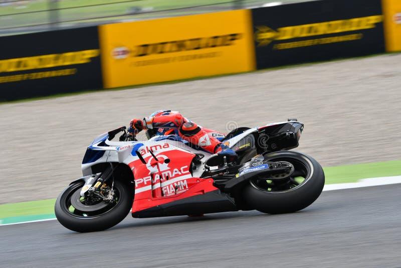 Mugello - ITÁLIA, O 1º DE JUNHO: Australiano Ducati Alma Pramac Team Rider Jack Miller durante a sessão de prática em GP 2018 de  fotos de stock