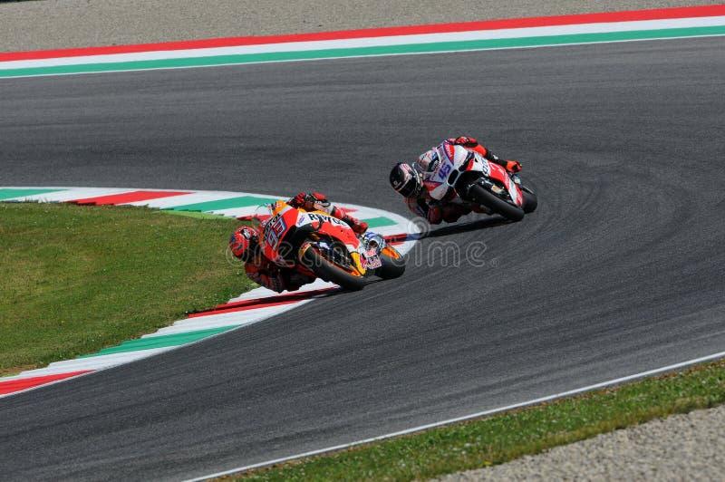 Mugello - ITALIA, el 21 de mayo - 2016: Jinete Marc Marquez de Honda del español en GP 2016 de TIM Italia MotoGP de Italia en el  fotos de archivo libres de regalías