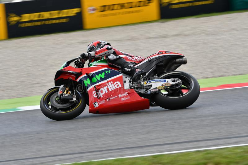 Mugello - ITALIEN, AM 2. JUNI: Britisches Aprilia, das Team Gresini Rider Scott Redding bei GP 2018 von Italien von MotoGP im Jun stockfoto
