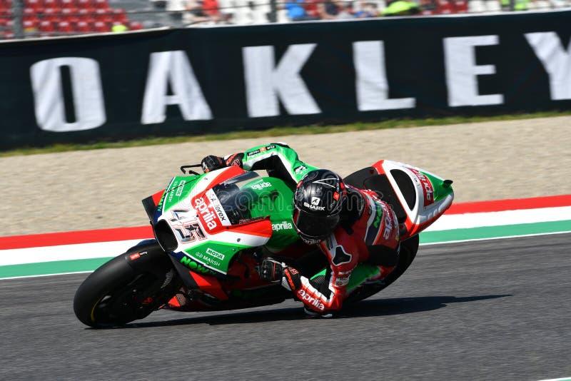 Mugello - ITALIEN, AM 2. JUNI: Britisches Aprilia, das Team Gresini Rider Scott Redding bei GP 2018 von Italien von MotoGP im Jun lizenzfreie stockfotos