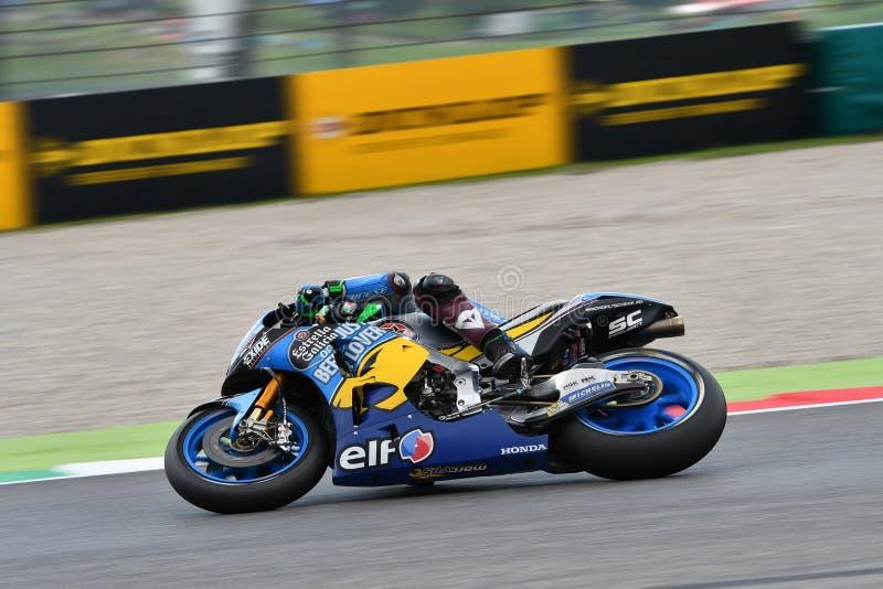 Mugello - ITALIEN, 2 JUNI: Italienare Honda Marc Vds Team Rider Franco Morbidelli på GP 2018 av Italien av MotoGP royaltyfria foton