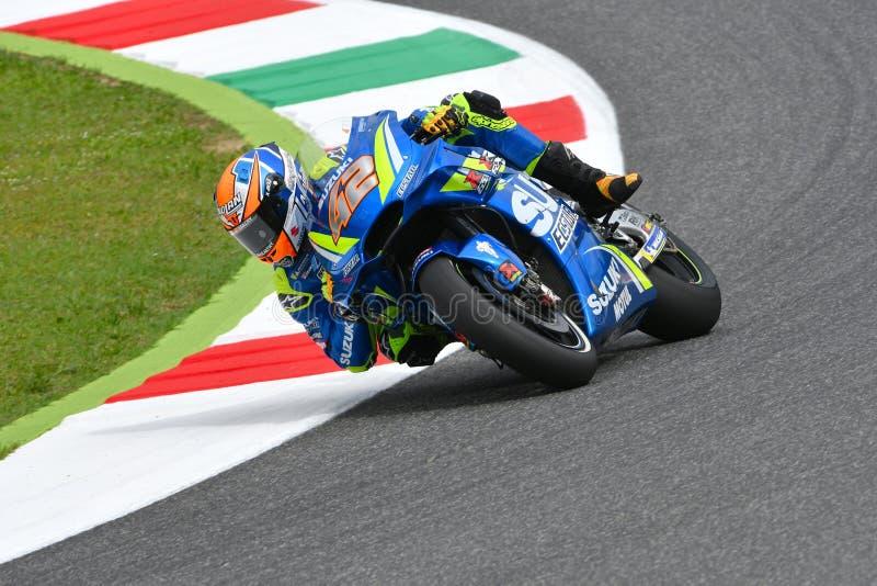 MUGELLO - ITALIEN, AM 2. JUNI: Spanisch-Suzuki Ecstar Team-Reiter Alex Rins während der qualifizierenden Sitzung bei GP 2018 von  stockbild