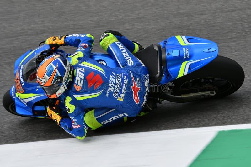 MUGELLO - ITALIEN, AM 2. JUNI: Spanisch-Suzuki Ecstar Team-Reiter Alex Rins während der qualifizierenden Sitzung bei GP 2018 von  stockfoto