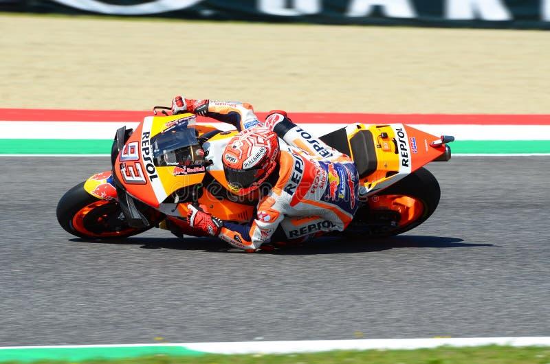 Mugello - Italien, AM 1. JUNI: Spanischer Teamreiter Marc Marquez Hondas Repsol in der Aktion bei GP 2019 von Italien von MotoGP  stockfotos