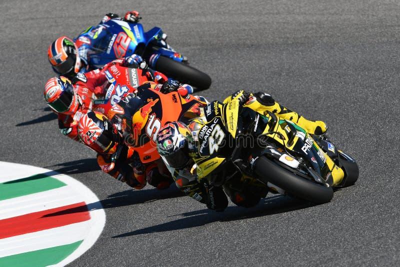 Mugello - ITALY, 1 JUNE: Australian Ducati Alma Pramac Team Rider Jack Miller in action at 2019 GP of Italy of MotoGP stock photos