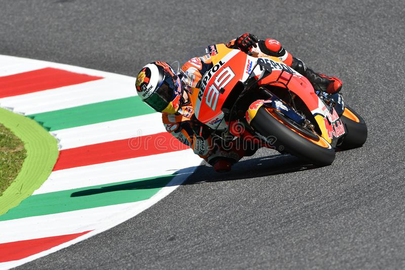 Mugello - Italy, 1 June: Spanish Honda Repsol Team rider Jorge Lorenzo in action at 2019 GP of Italy of MotoGP on June 2019. In Italy royalty free stock photos