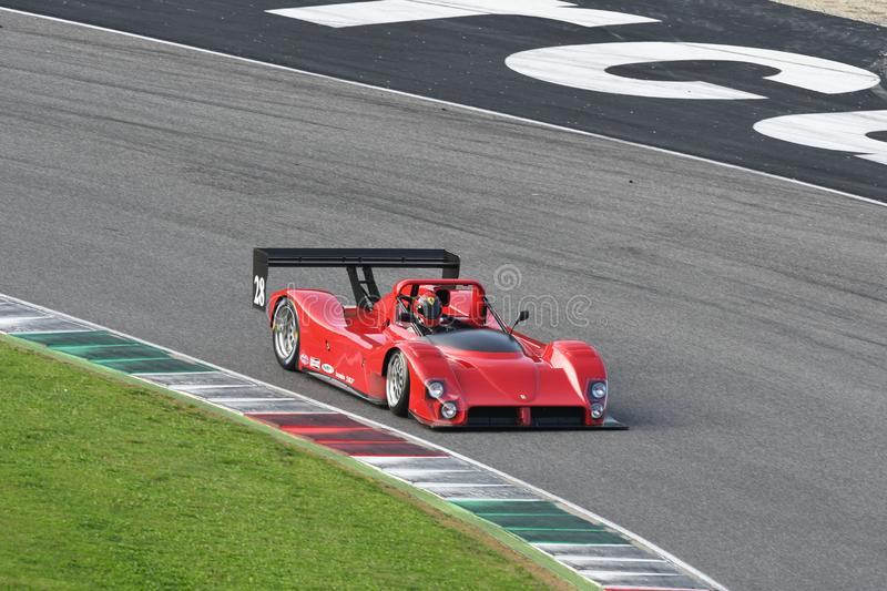 Mugello, IT, 25 October 2019, Historic Ferrari 333SP in action at the Mugello Circuit during Finali Mondiali Ferrari 2019. italy. royalty free stock images