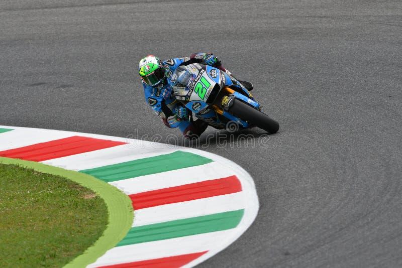 Mugello, WŁOCHY -, 2 CZERWIEC: Włoszczyzny Honda Marc Vds drużyny jeździec Franco Morbidelli przy 2018 GP Włochy MotoGP obraz stock