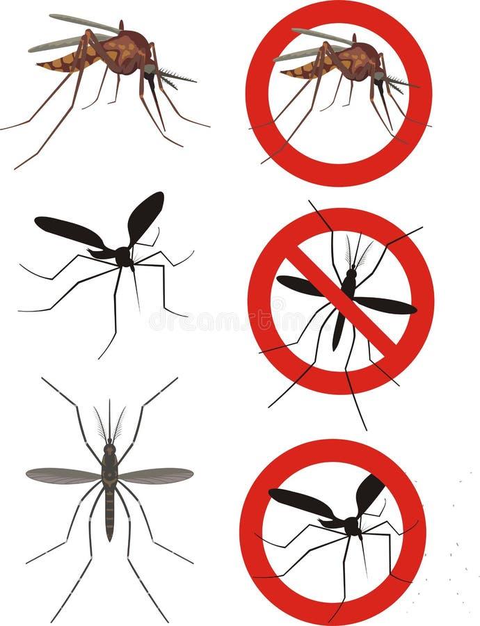Muggen stock illustratie