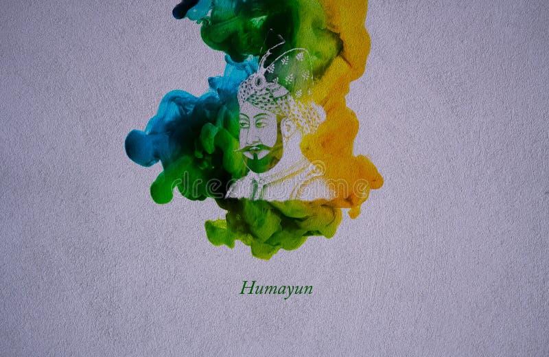 Mughal cesarz Humayun royalty ilustracja