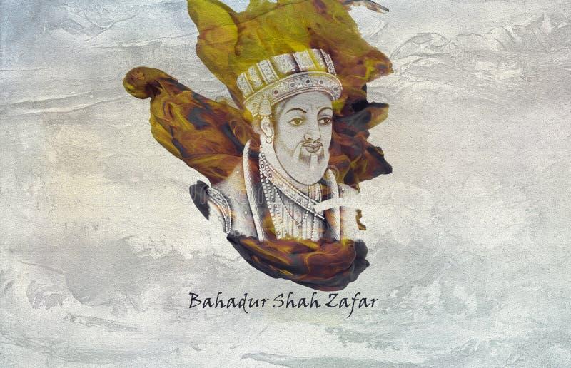 Mughal kejsareBahadur schah Zafar stock illustrationer