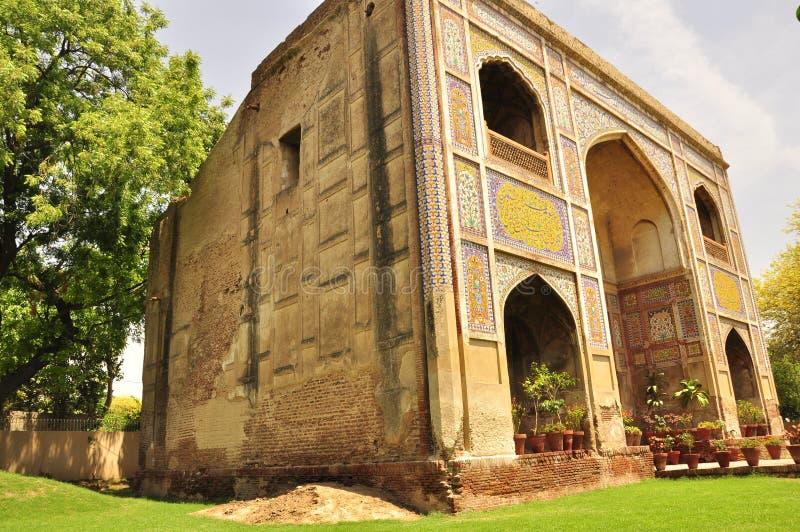 Mughalkunst in Lahore, Pakistan royalty-vrije stock afbeelding