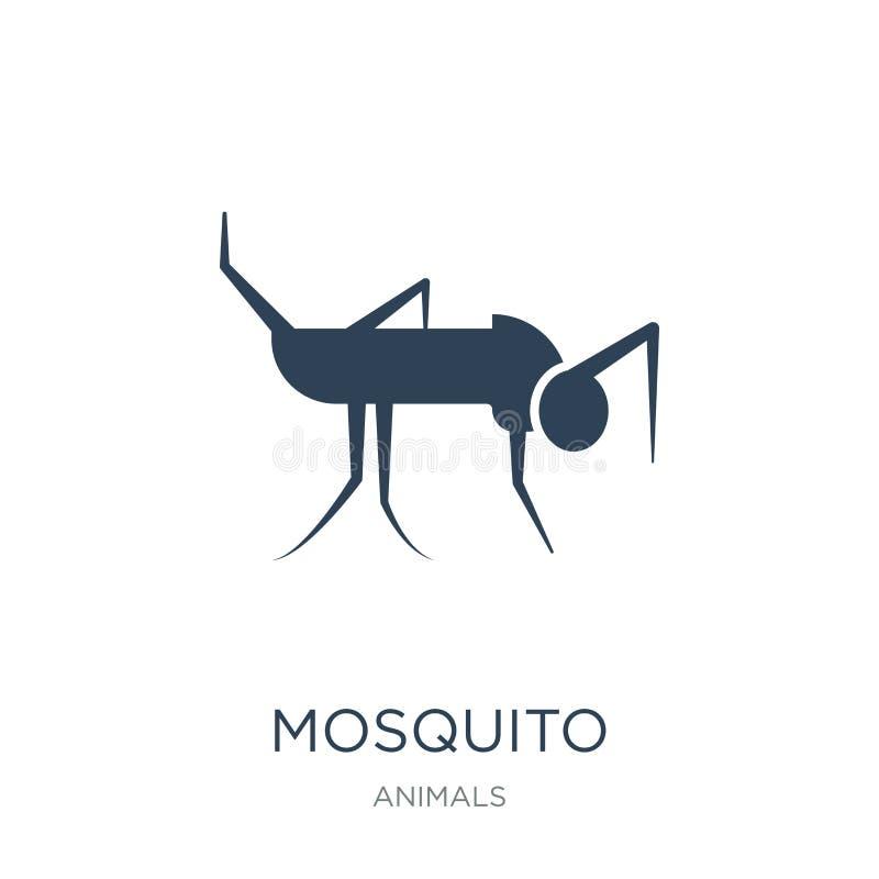 mugpictogram in in ontwerpstijl Mugpictogram op witte achtergrond wordt geïsoleerd die eenvoudige en moderne vlakte van het mug d vector illustratie