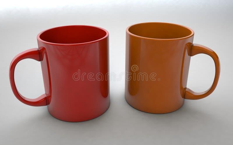 mugs illustration stock