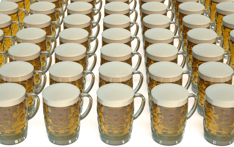 Mugs of beer vector illustration