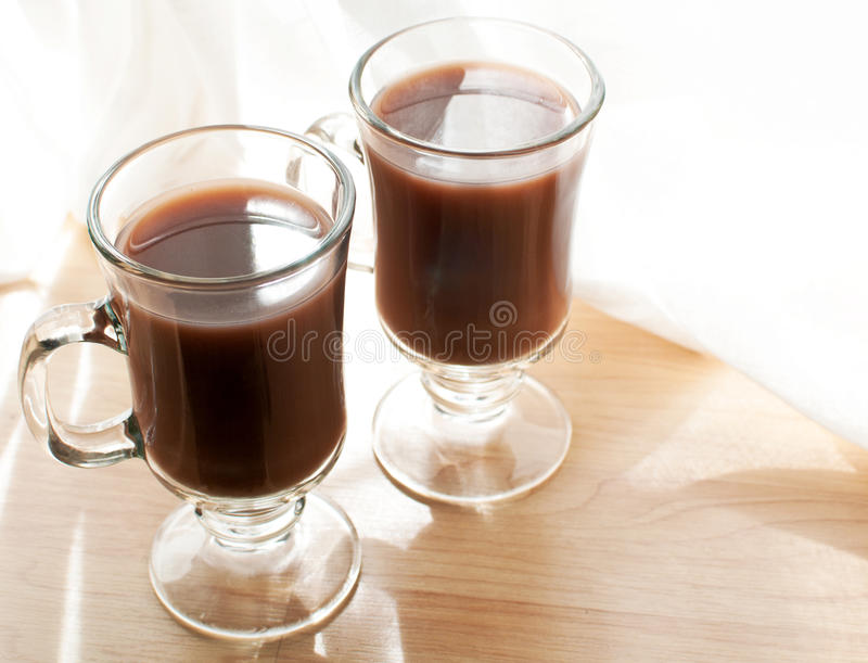Download Mugs with cocoa drink stock photo. Image of cocoa, stick - 27237012