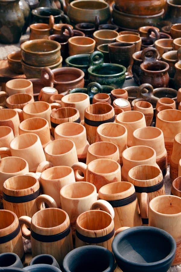 Download Mugs, Pitchers and pots stock photo. Image of circle - 15534138