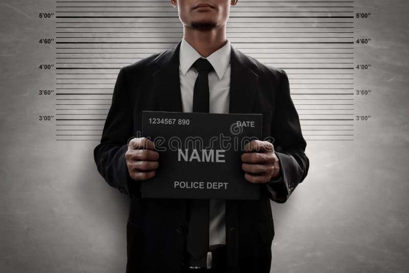Mugshot του εγκληματικού πίνακα ονόματος λαβής στοκ φωτογραφία με δικαίωμα ελεύθερης χρήσης