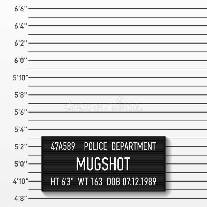 Mugshot da polícia ilustração royalty free