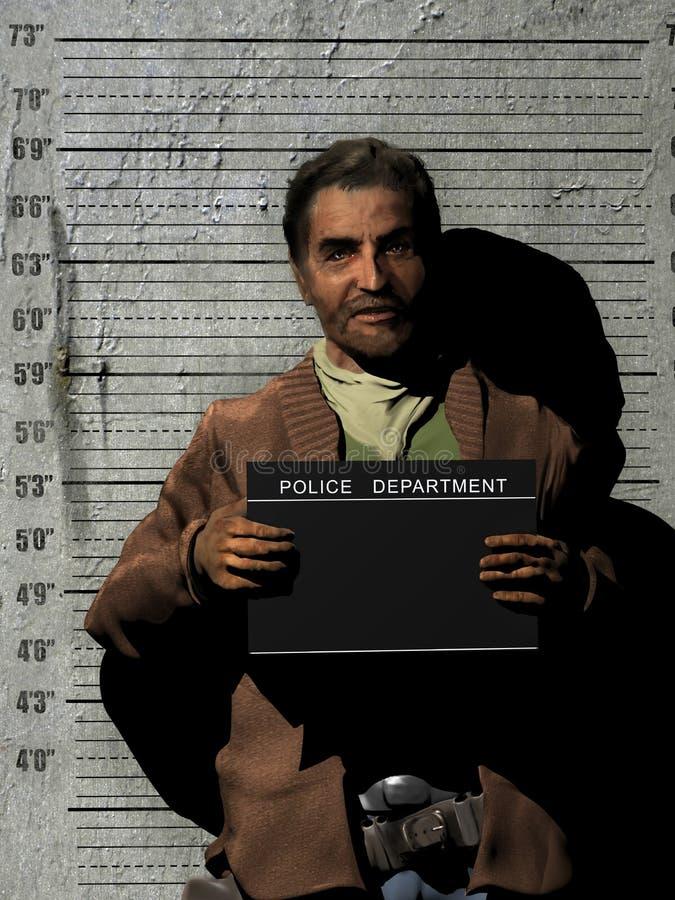Mugshot da polícia criminosa ilustração do vetor