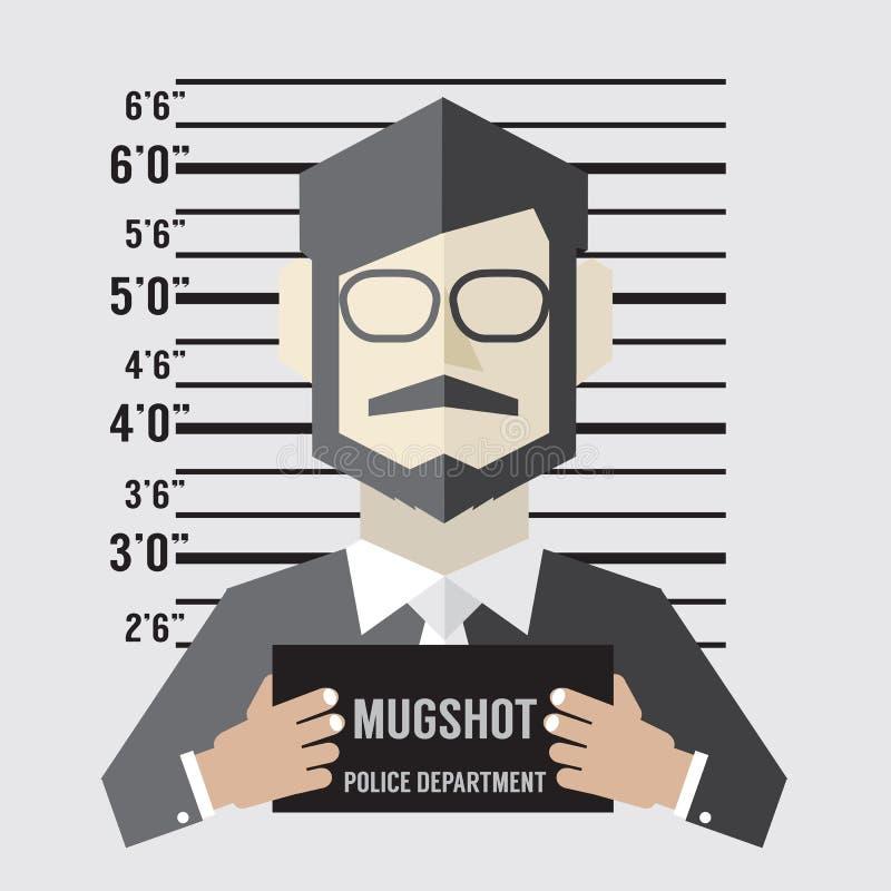 Mugshot do homem de negócios ilustração do vetor