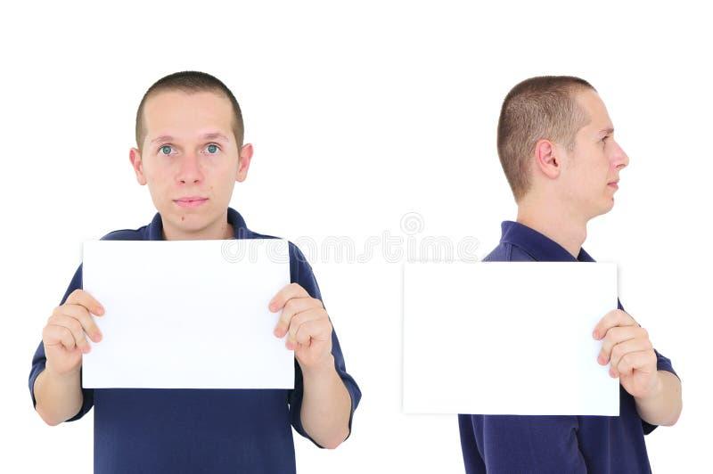 Mugshot do homem novo imagem de stock