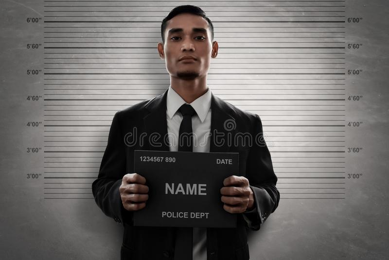 Mugshot kryminalna chwyta imienia deska obrazy stock