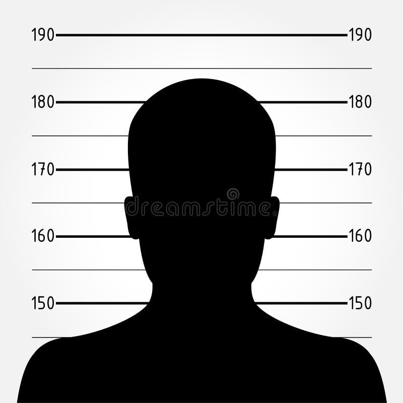 Mugshot lub polici uszeregowanie royalty ilustracja