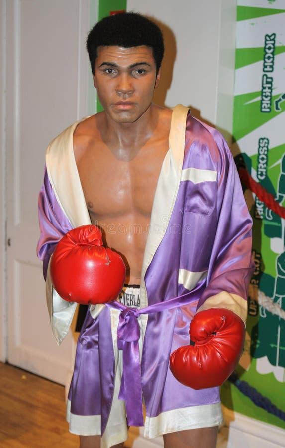 Muhammad Ali bij Mevrouw Tussaud's stock foto