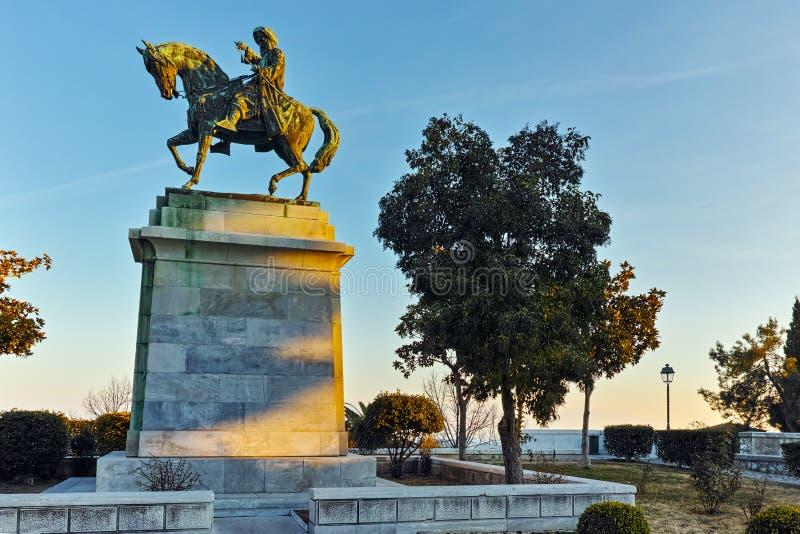 Muhammad Ali do monumento de Egito em Kavala, em Macedônia do leste e em Thrace foto de stock royalty free