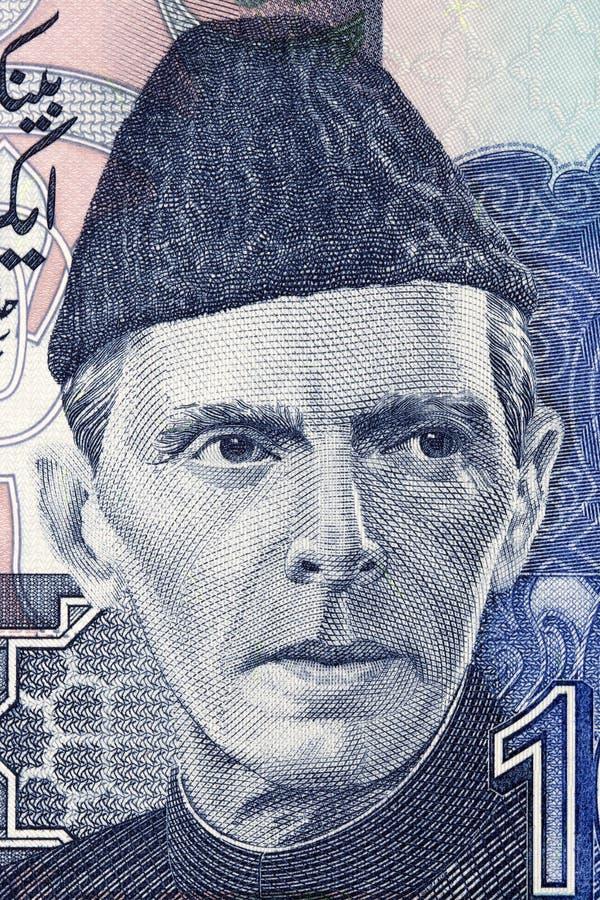 Muhammad Ali Jinnah en stående arkivbilder