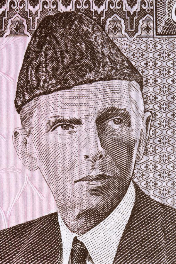 Muhammad Ali Jinnah portrait stock photography