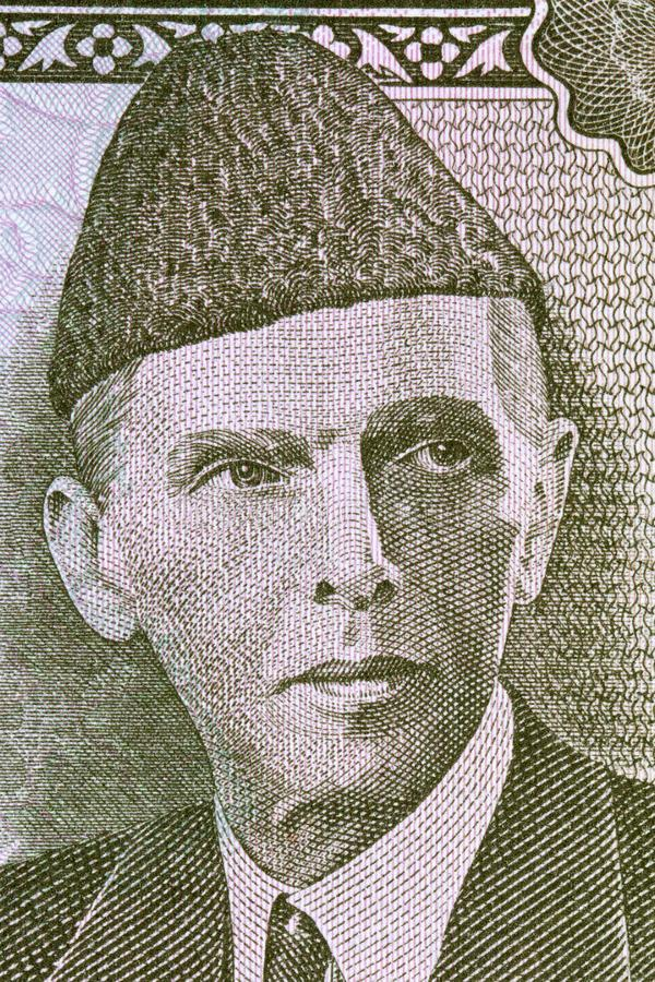 Muhammad Ali Jinnah stående arkivfoton