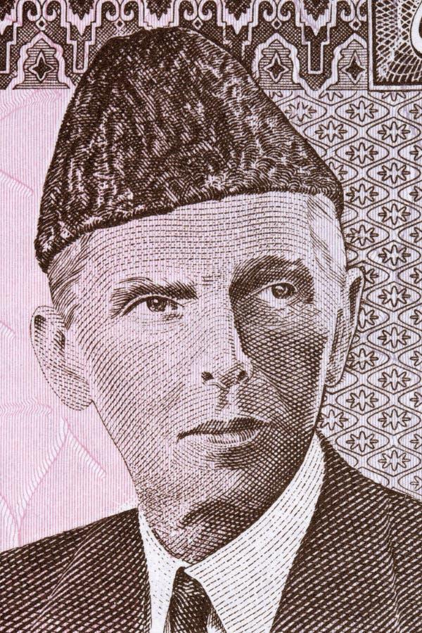 Muhammad Ali Jinnah stående arkivbild