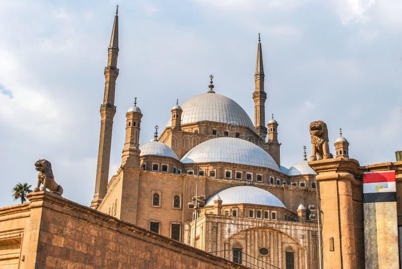 Muhammad Ali Mosque i Kairocitadellen, Kairo Egypten royaltyfri bild