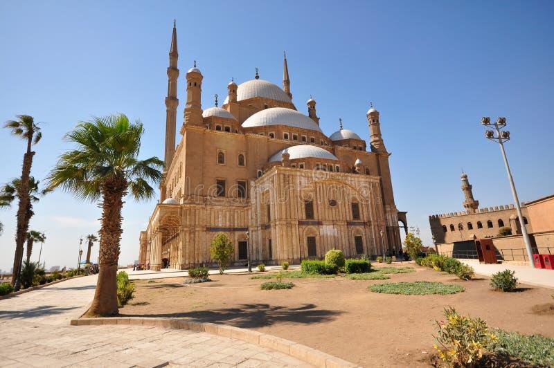 Muhammad Ali Mosque in Kaïro, Egypte stock foto