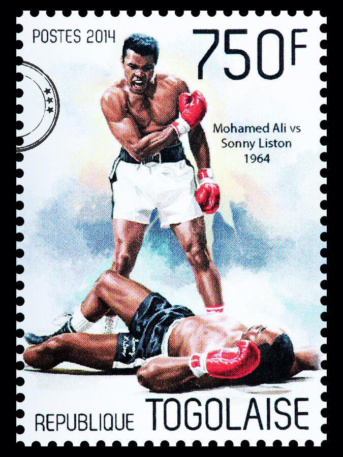 Muhammad Ali Postage Stamp royalty free stock photography