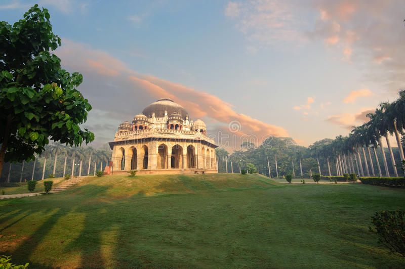 Muhammad Shah Sayyid's Tomb at early morning in Lodi Garden Monuments. Delhi, India stock photos