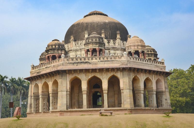 Muhammad Shah Sayyid tomb, Lodhi gardems, New Delhi, India. On a sunny day stock images