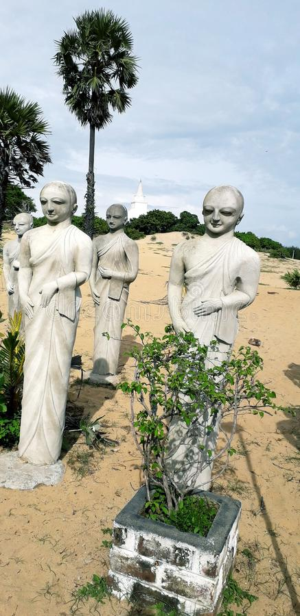 Muhudhu viharaya sri lanka. Muhudhu viharaya which situated ampara district in sri lanka stock photos