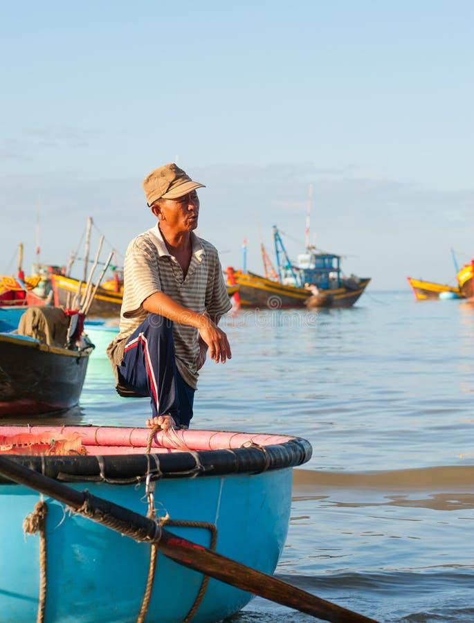 越南渔夫 免版税库存图片