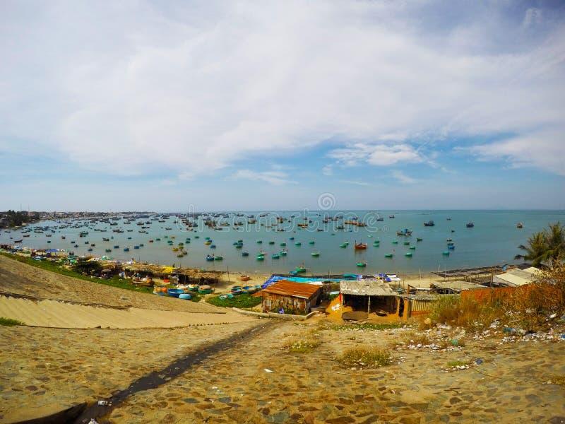 Mui Ne Fisherman-Village in Vietnam lizenzfreies stockbild