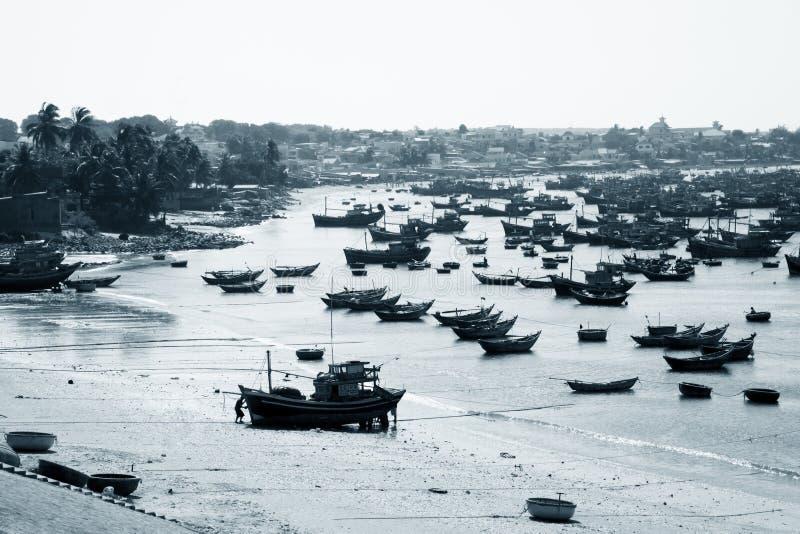 Mui Ne fishing village royalty free stock photos
